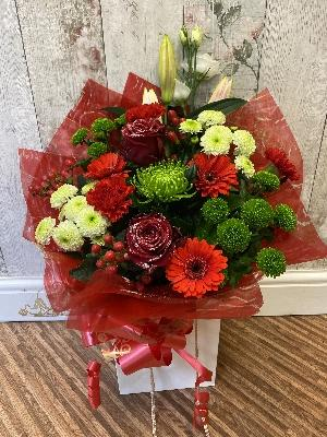 Luxury Festive Handtied   Florist Choice